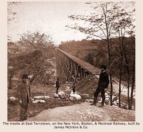 trestle at East Tarrytown - New Yor, Boston & Montreal Railway