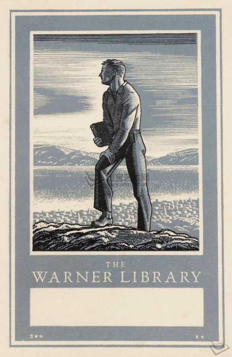 Kent's Bookplate for the Warner Library